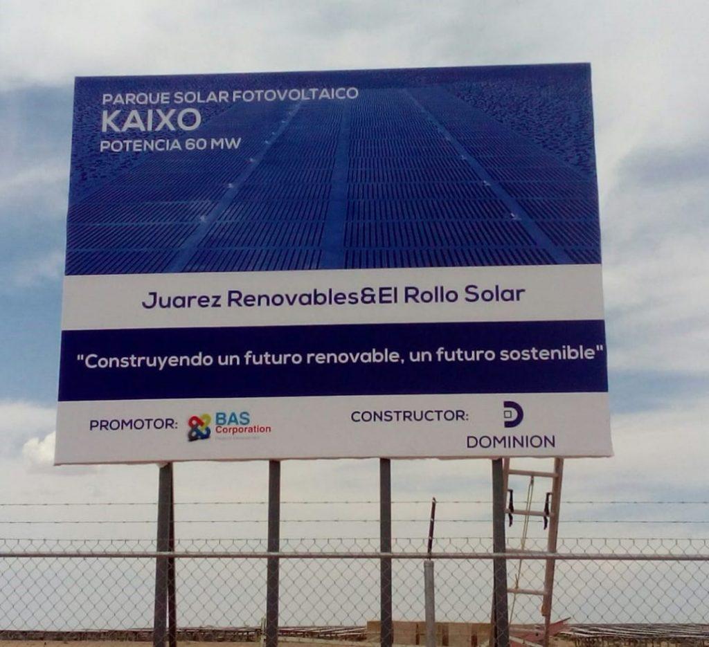 Parque solar fotovoltaico Kaixo 60 MW