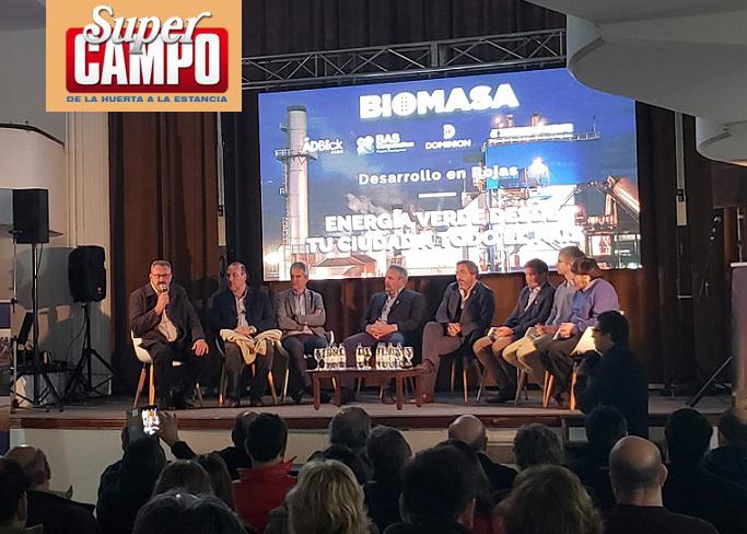 planta biomasa en Rojas Argentina Super Campo septiembre 2018
